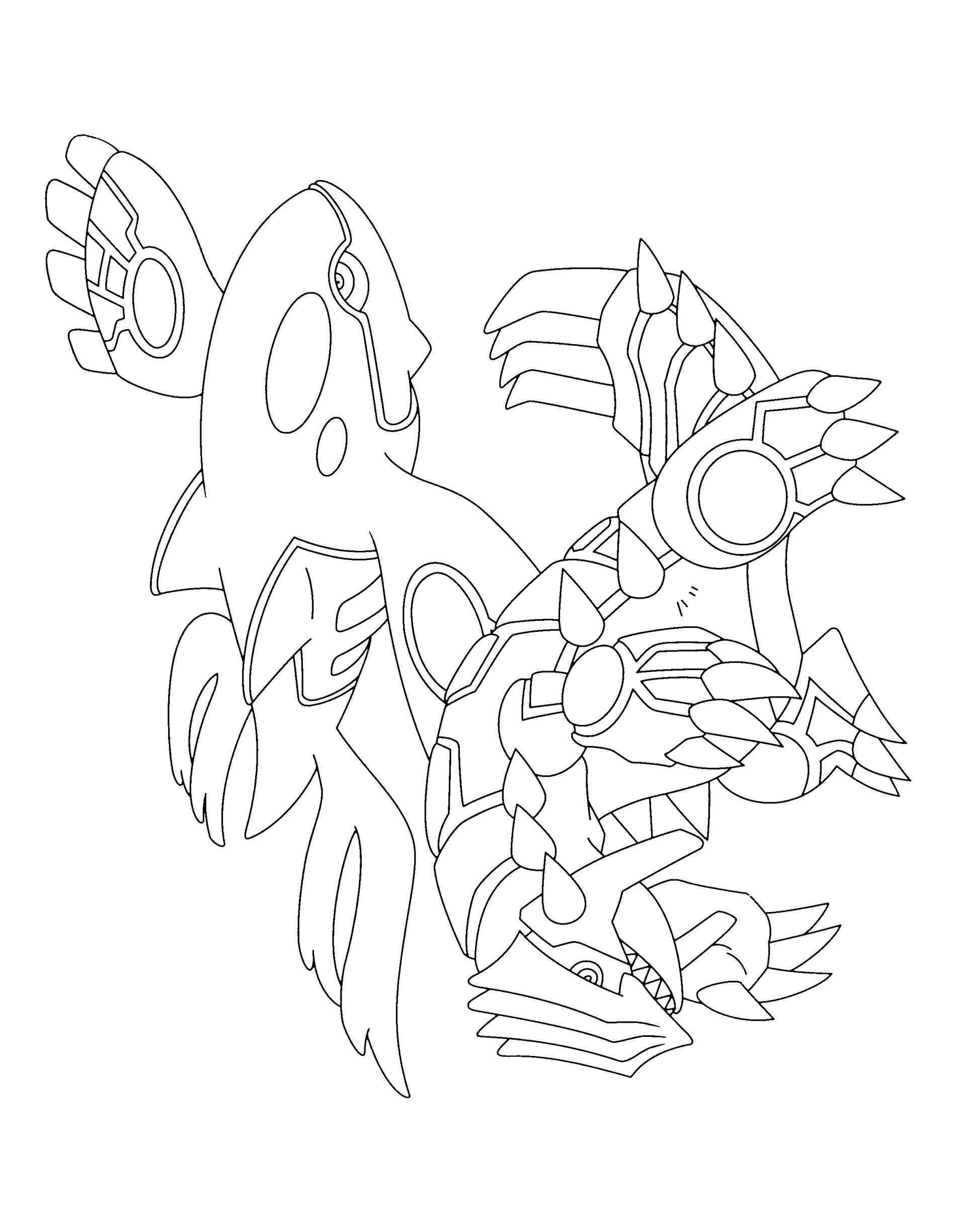 Pin kyogre coloring pages on pinterest for Primal groudon coloring page