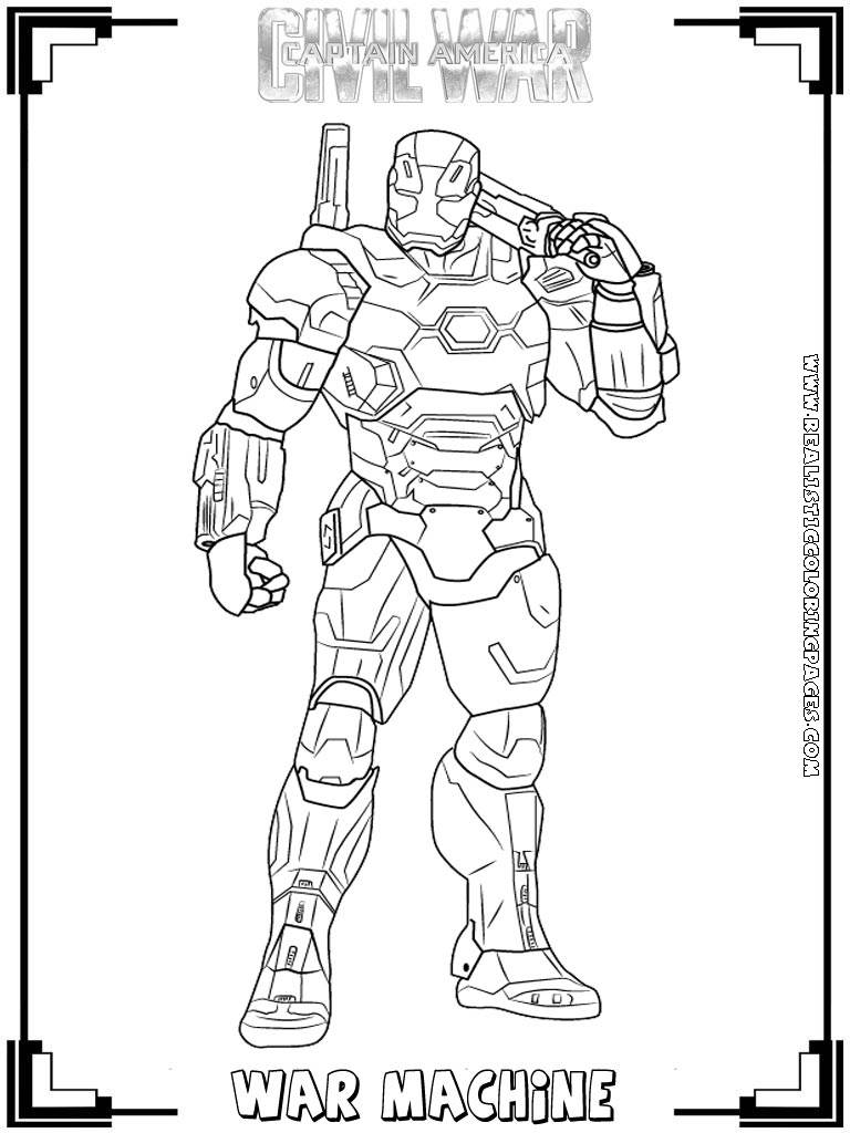 - Captain America:Civil War Printable Coloring Pages Realistic -  Coloring Home