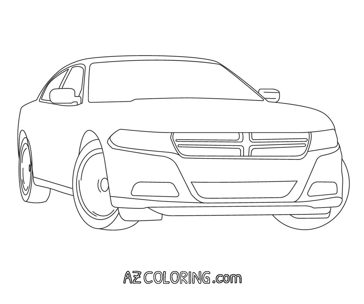Dodge Charger Coloring Pages - Coloring Home