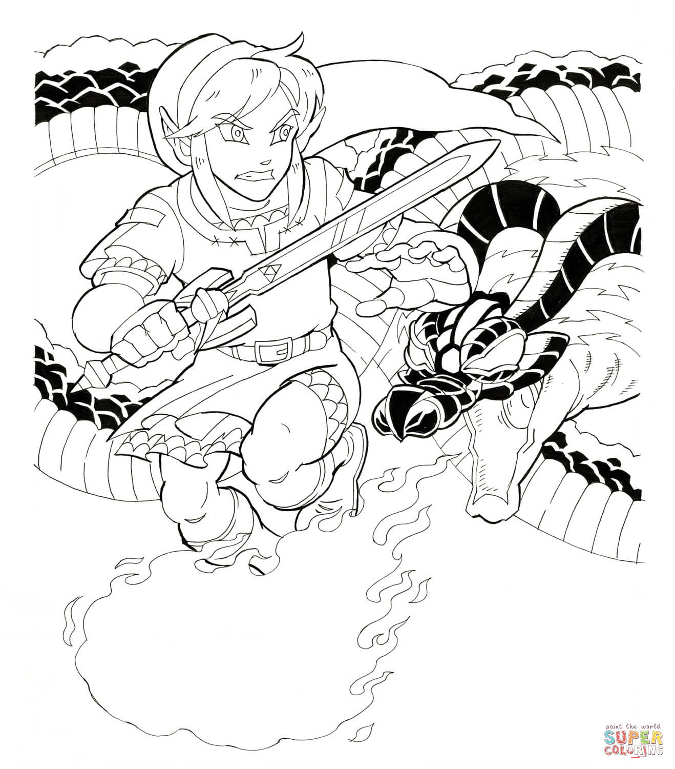 free zelda online coloring pages - photo#29