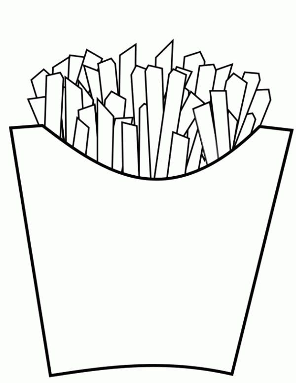 french fries coloring pages - photo#5
