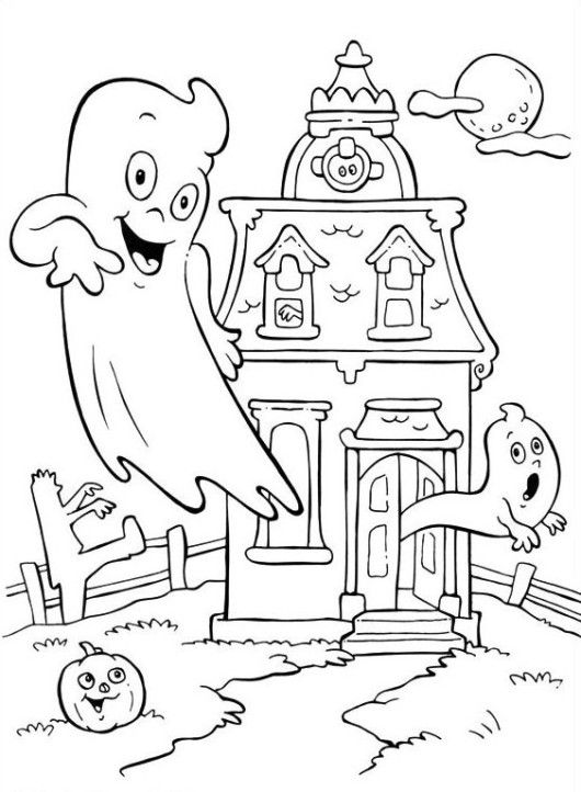 Coloring Pages Halloween Free Printable  Coloring Home