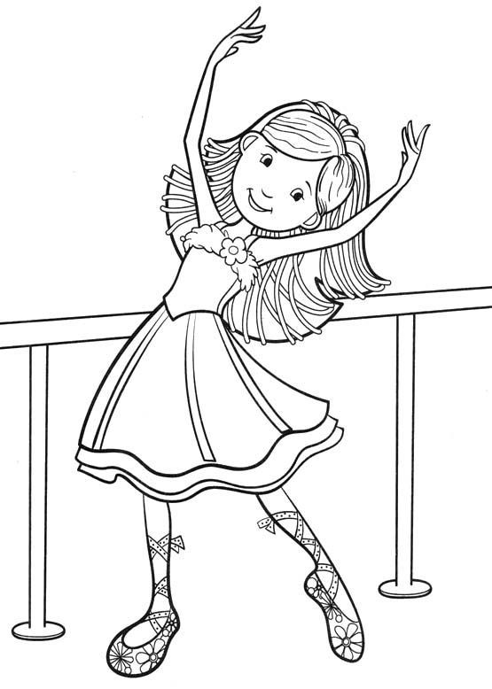 It's just a picture of Striking dance coloring pages for kids