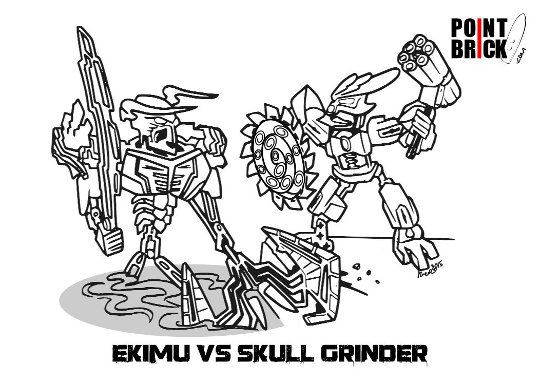 LEGO Bionicle Coloring Page
