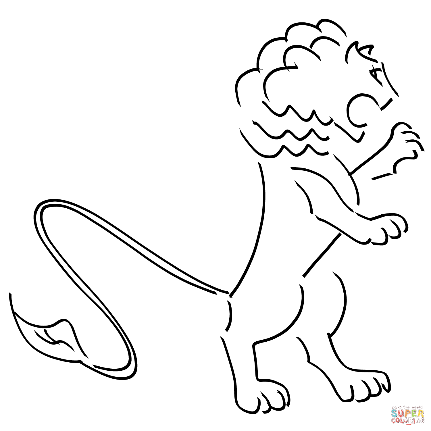free coloring pages of lions - photo#45