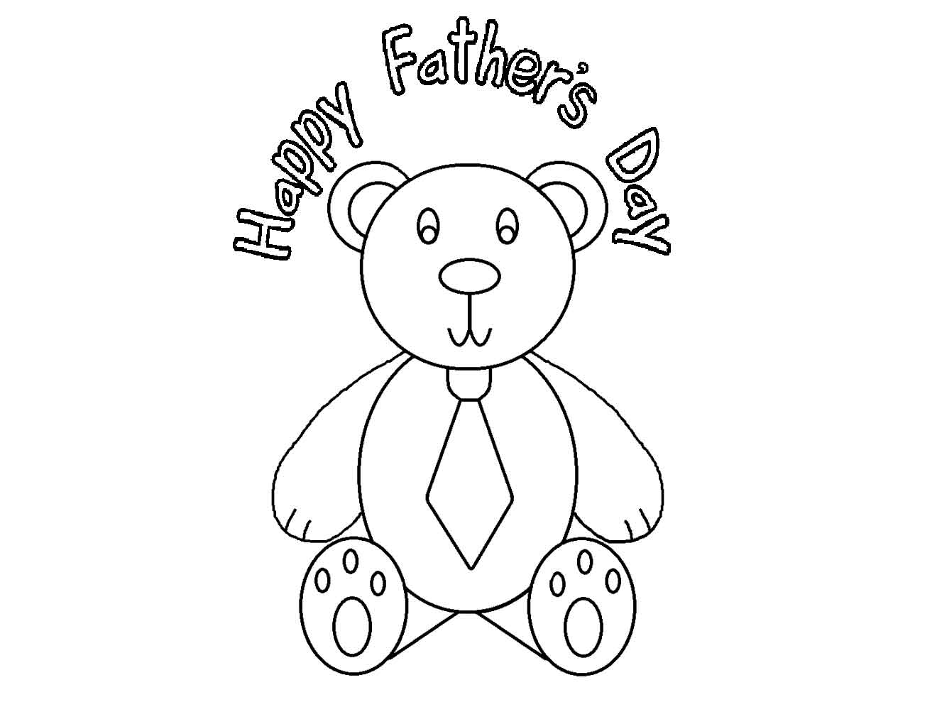 Happy Father's Day Card coloring page | Free Printable Coloring Pages | 1020x1320