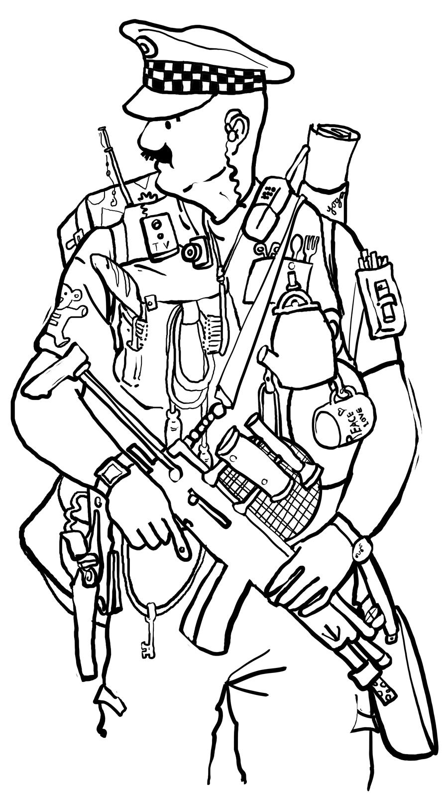 Free Kids Police Officer Coloring Pages