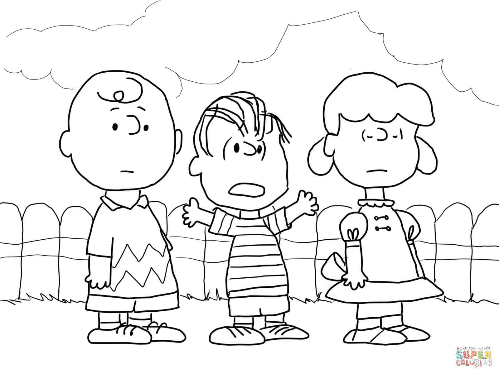 Charlie Brown Christmas Coloring