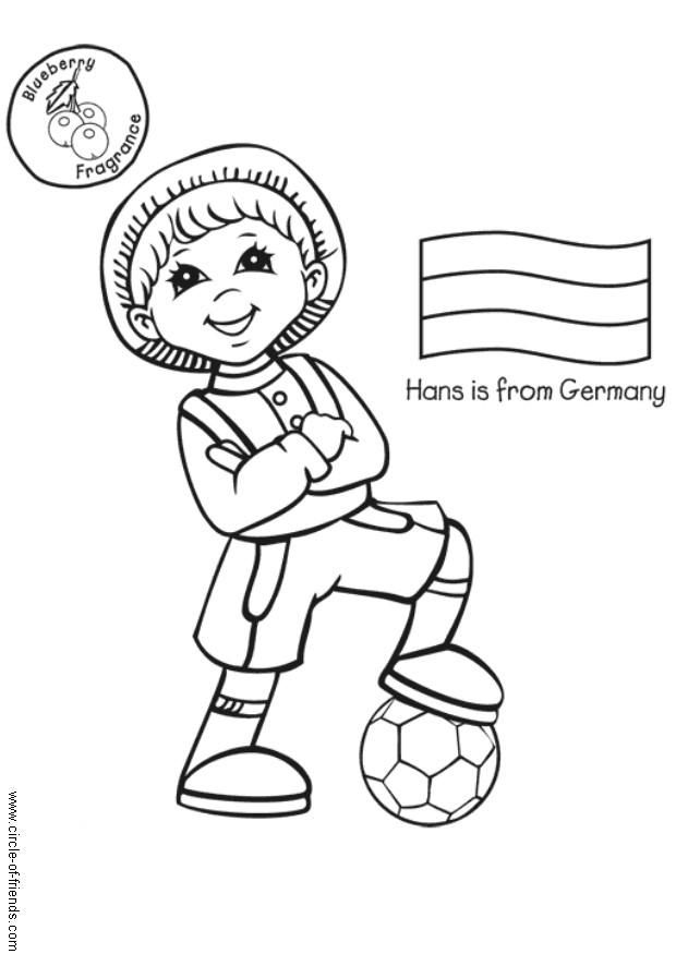 German Coloring Page