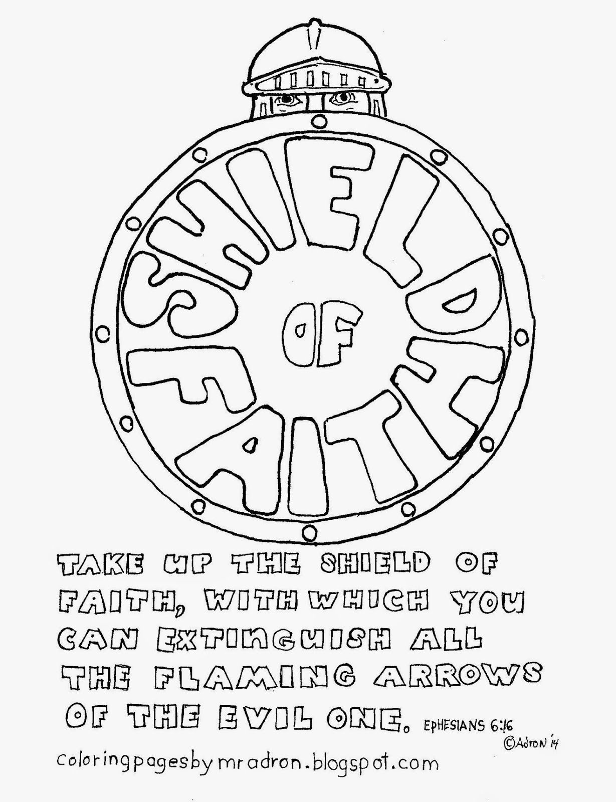 Shield Of Faith Coloring Page Coloring Home