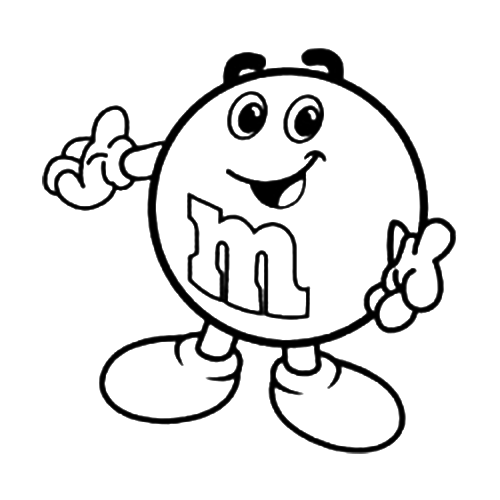 M&m Coloring Page