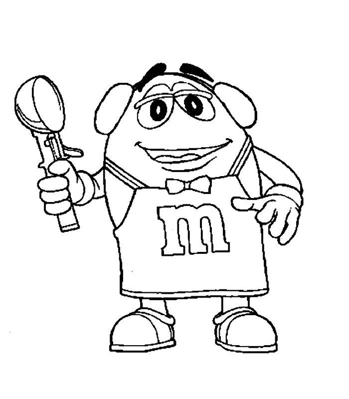 M & M Coloring Page - Coloring Home