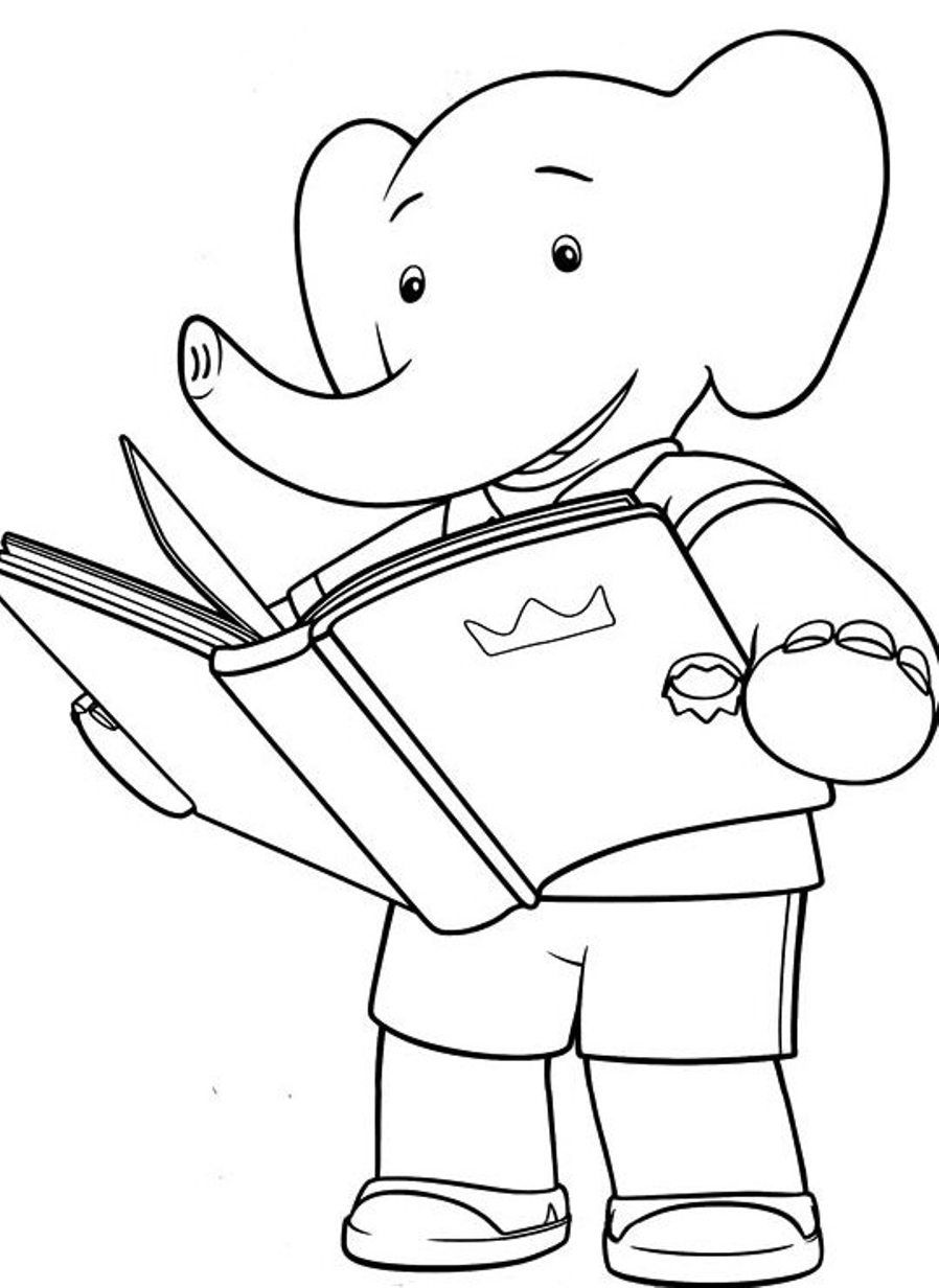 Reading book coloring page coloring home for Coloring page book