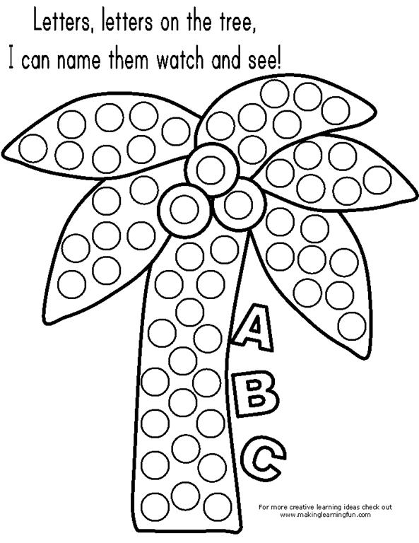 Bingo Dauber Alphabet Coloring Pages   768x593