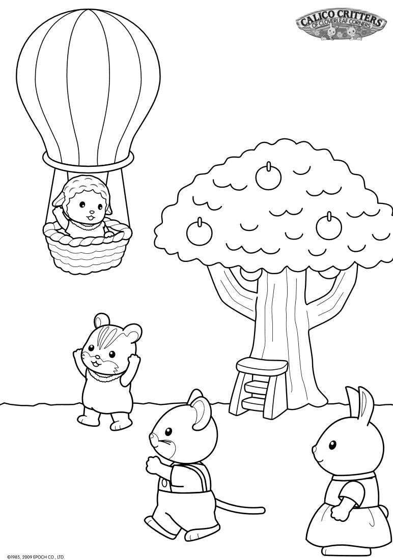 calico critters coloring pages printable - photo#13