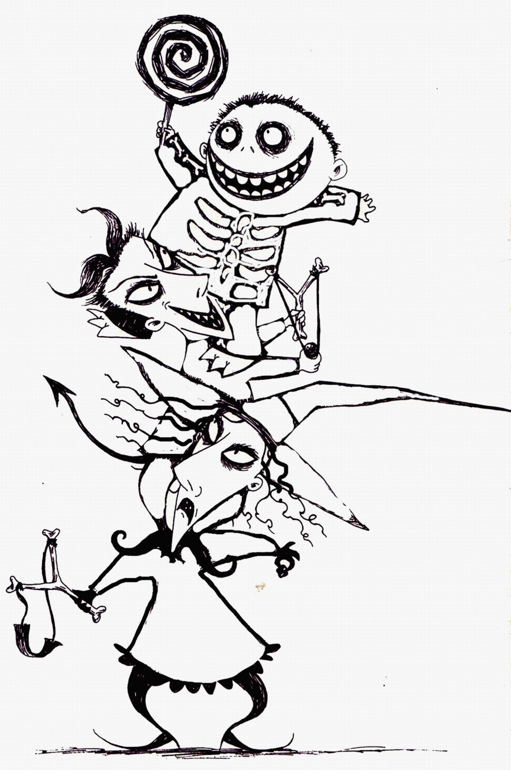 Nightmare Before Christmas Coloring Pages Printable
