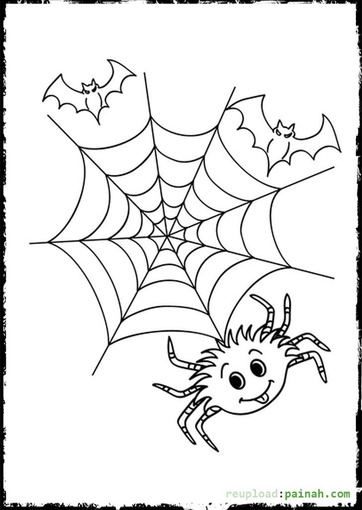 halloween spiders coloring pages - photo#13