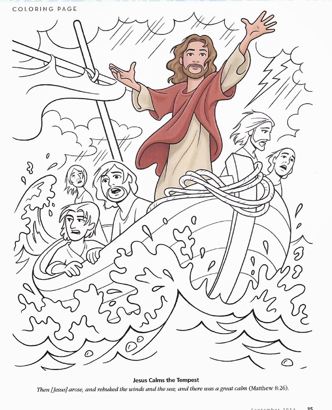 Calm The Storm Coloring Page Coloring Home