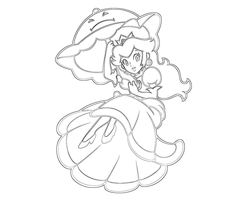 Princess peach coloring pages to print free coloring home for Free printable princess peach coloring pages