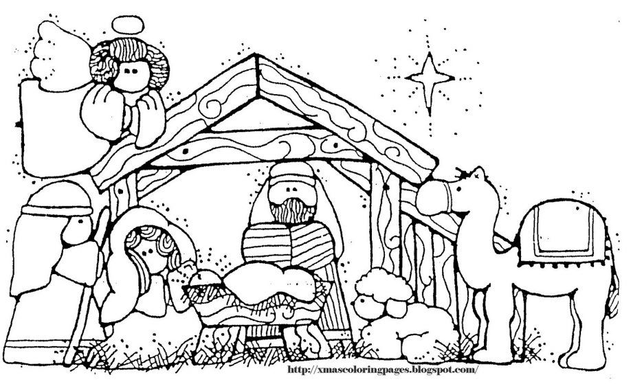 Nativity Coloring Pages With Scripture Nativity Coloring Pages