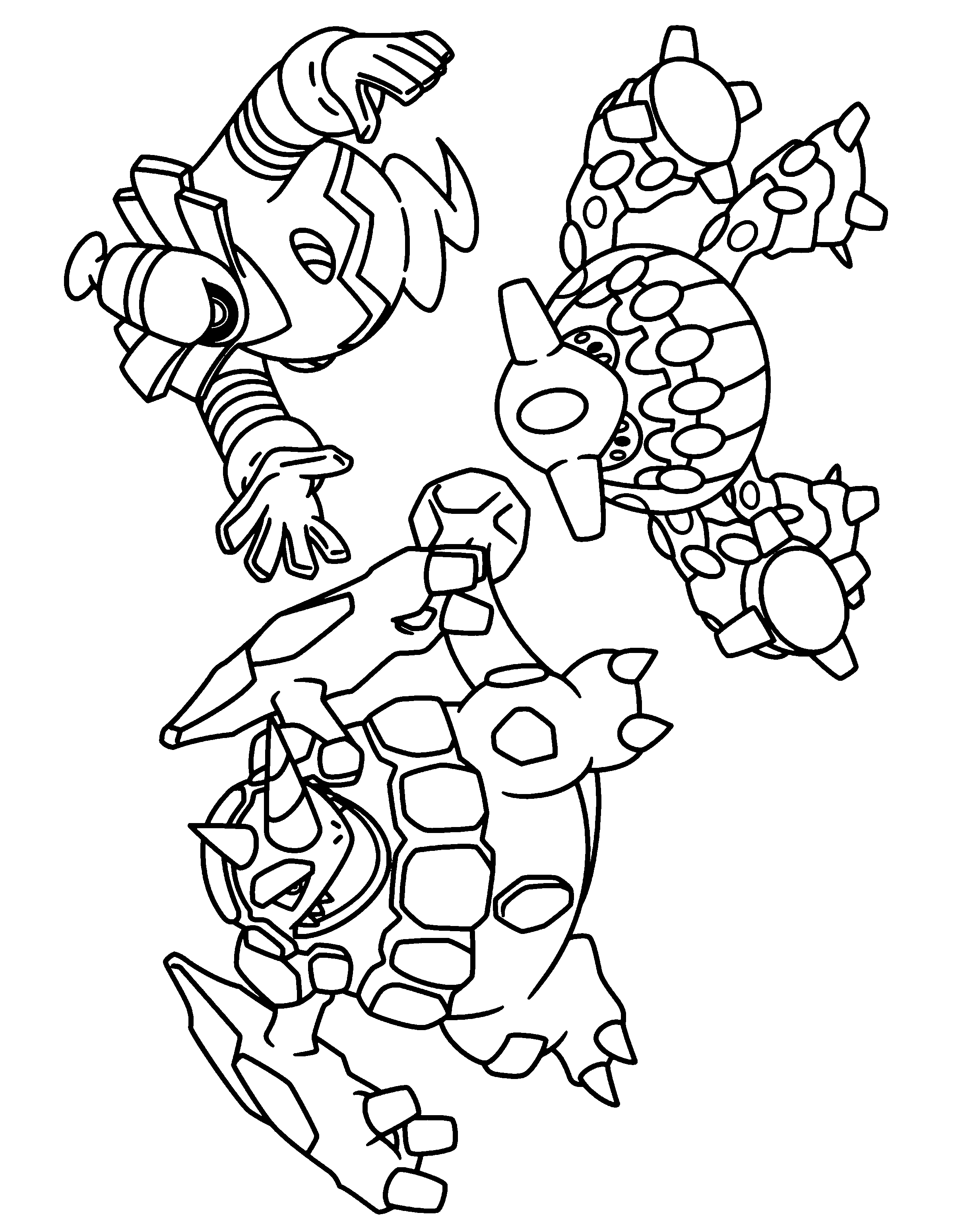 pokemon group coloring pages - photo#16