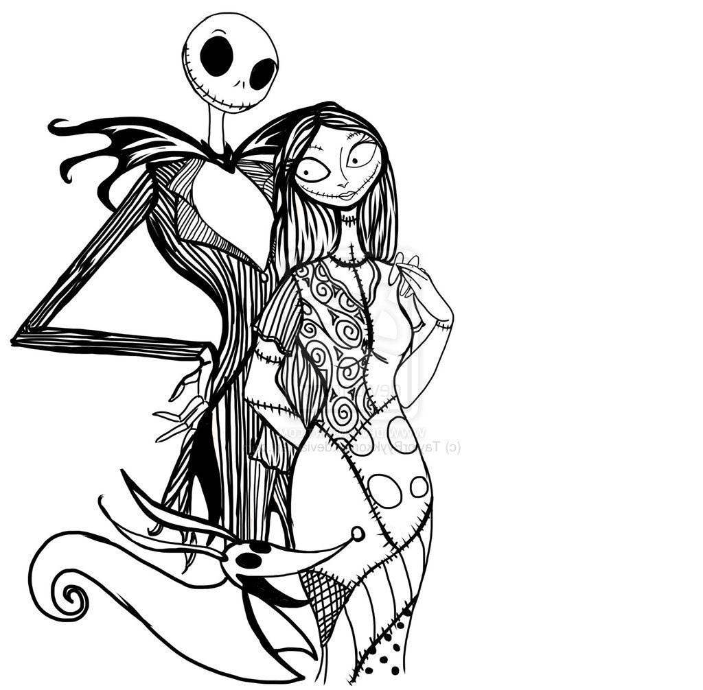 Pix For Gt Jack And Sally Nightmare Beforeristmas Coloring Pages ...