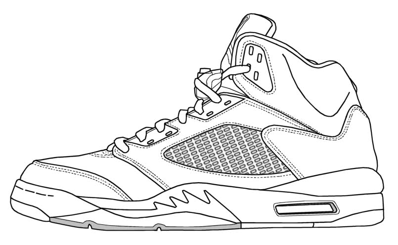 Air Force 1 Low Coloring Pages Coloring Home