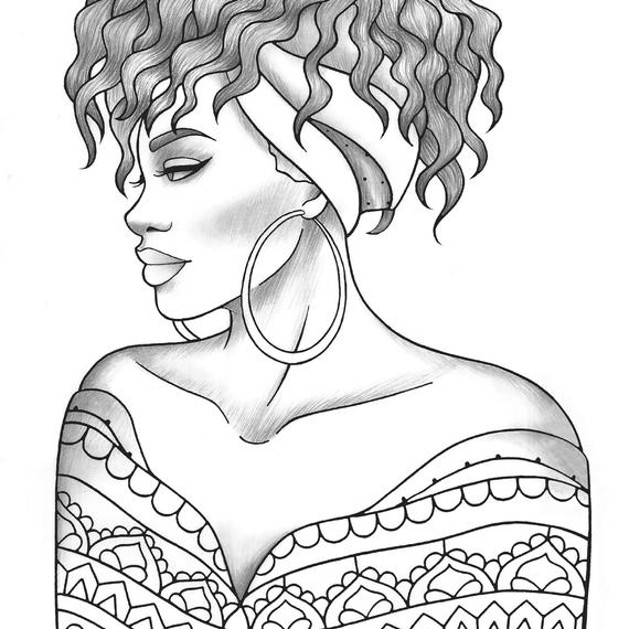 Black Girl Coloring Pages Ideas - Whitesbelfast