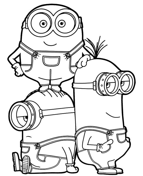 Minion Bob Coloring Pages - Coloring Home