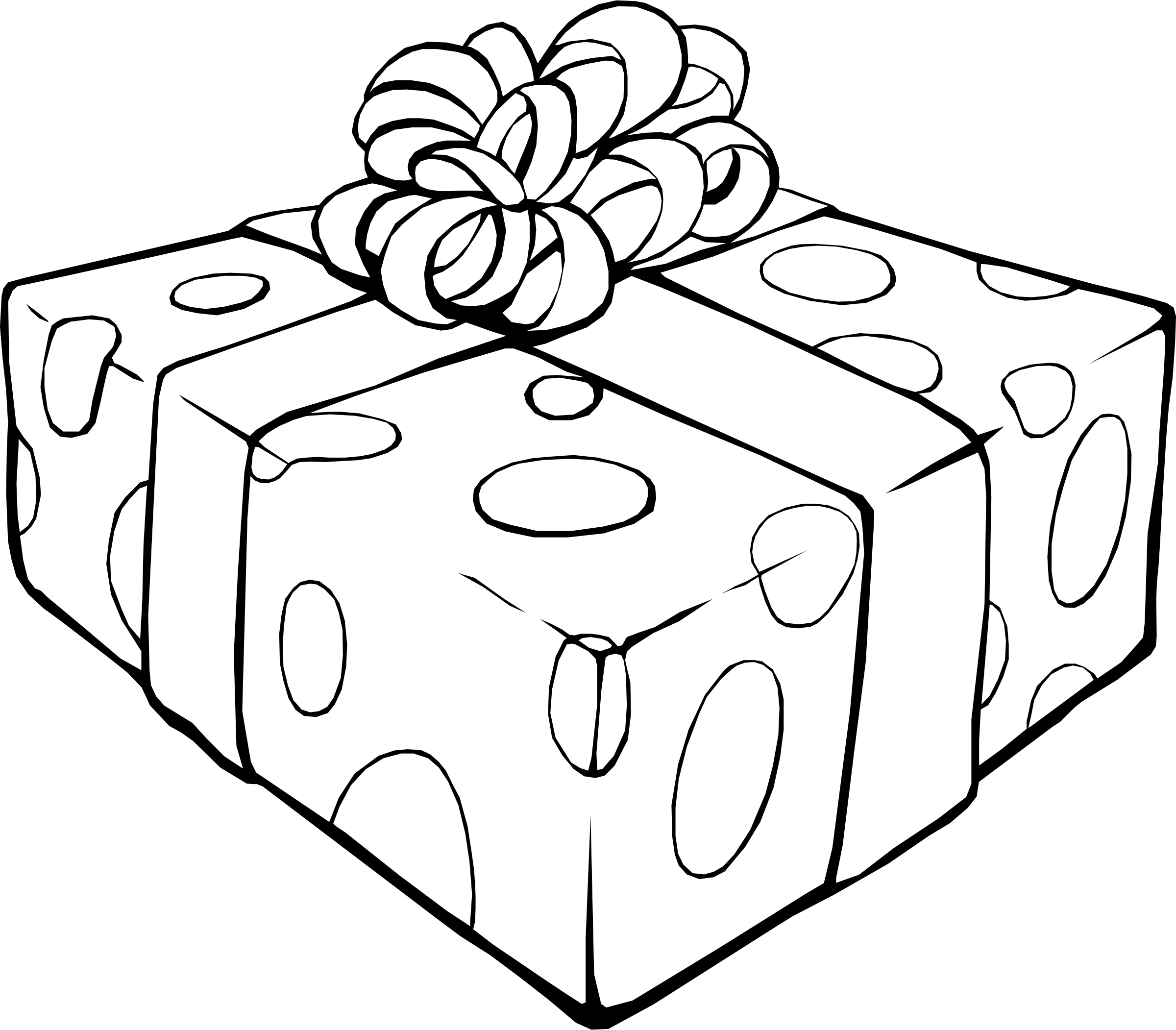 Gift Coloring Page - Coloring Home