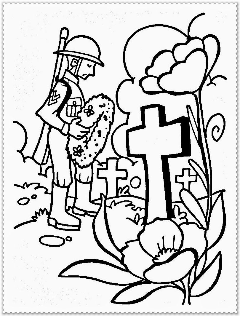 Coloring Pages For Remembrance Day : Remembrance day poppy coloring page az pages