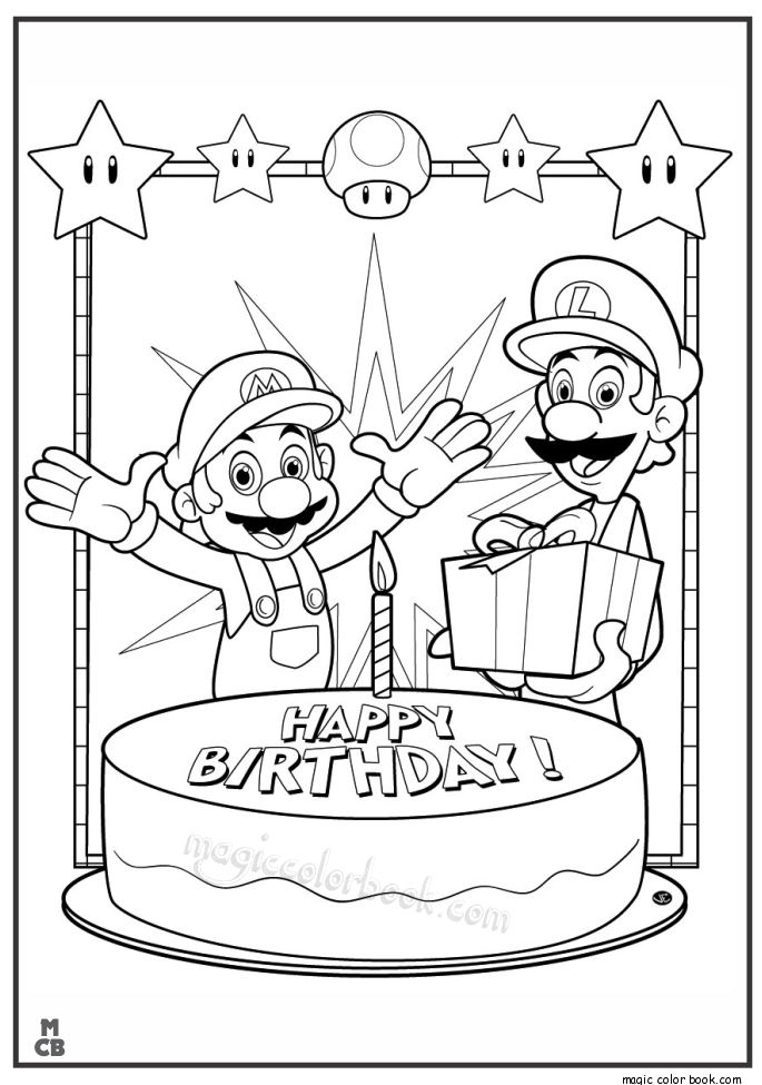 Scooby Doo Happy Birthday Coloring Pages
