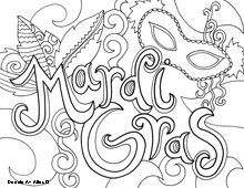 Mardi Gras Coloring Sheets Printable - High Quality Coloring Pages