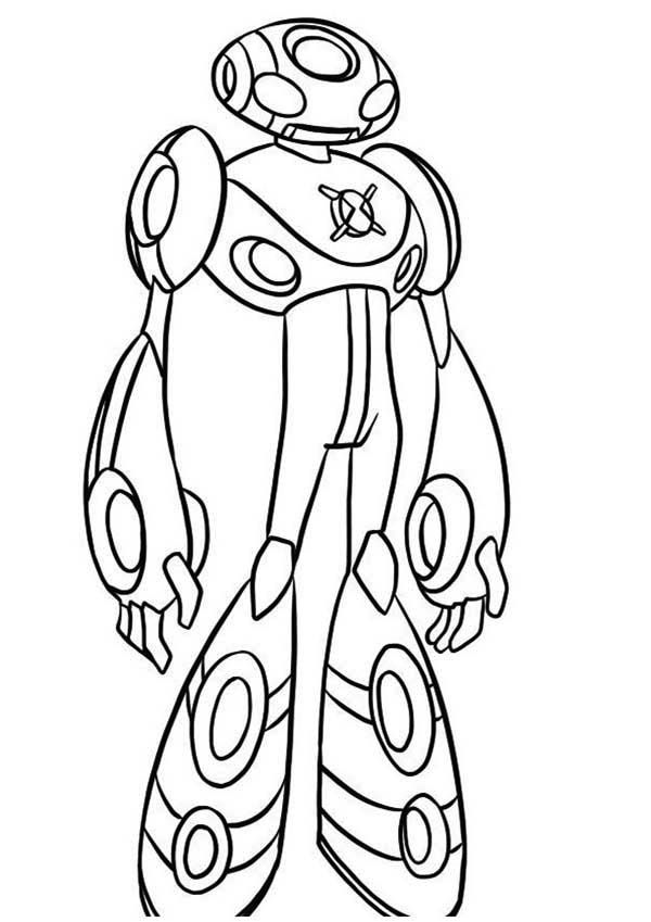 ultimate echo echo from ben 10 ultimate alien coloring page