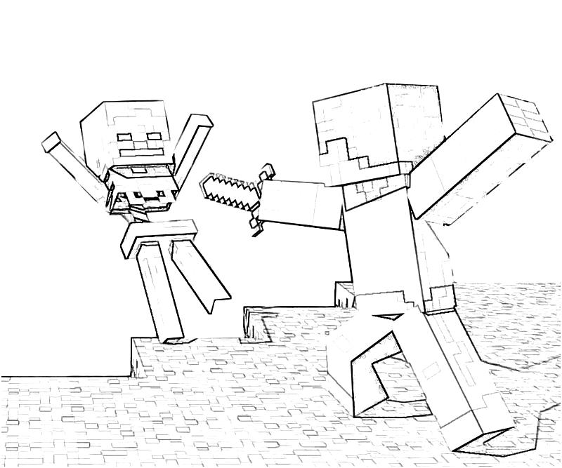 Minecraft Coloring Pages Steve