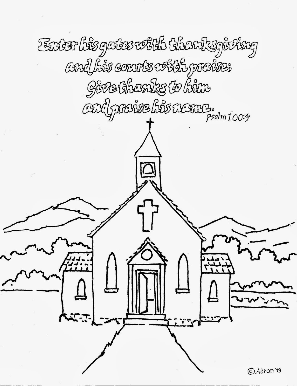 church coloring pages for children - photo#38