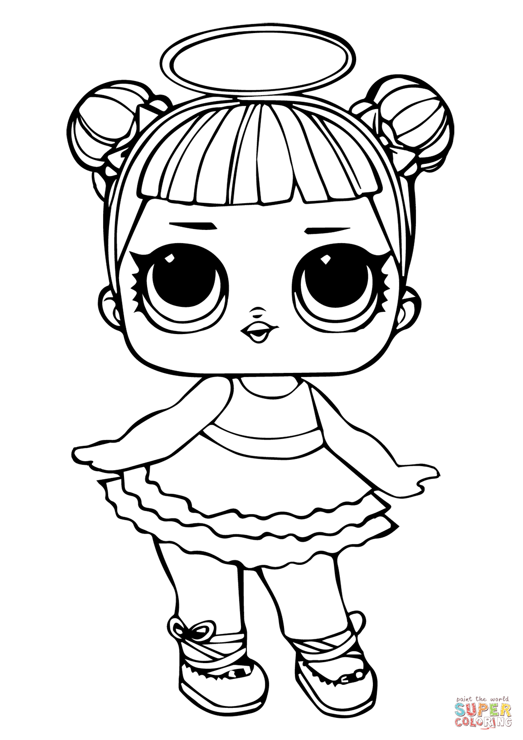 coloring pages  lol doll sugar coloring page free