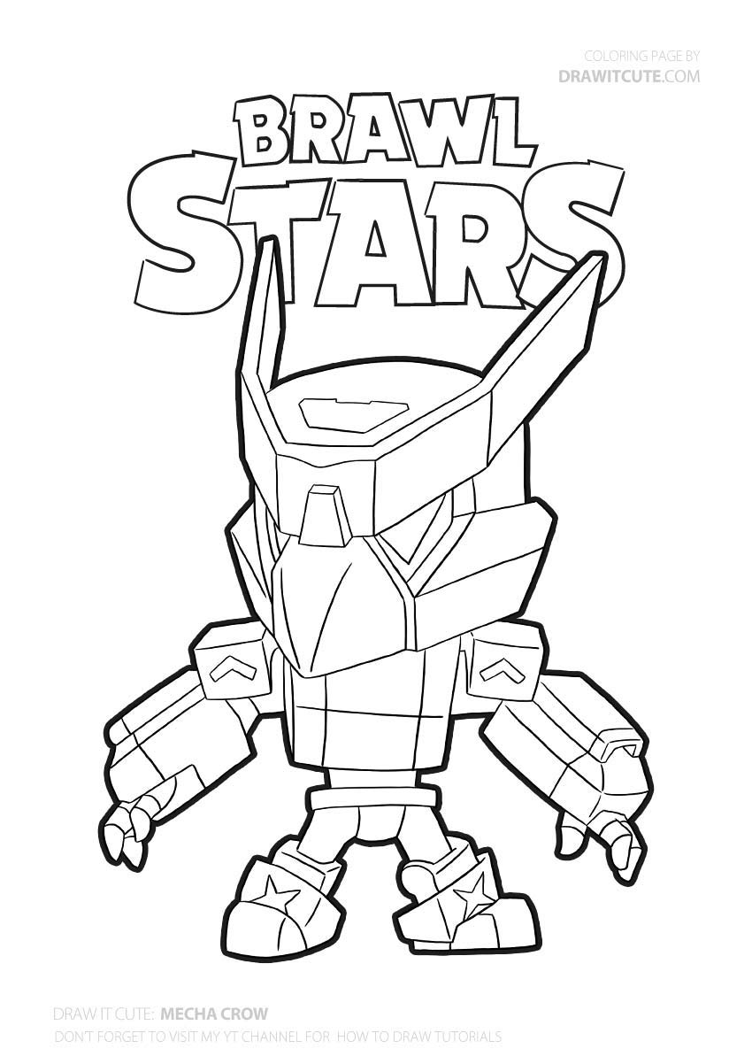 Mecha Crow| Brawl Stars coloring page - Color for fun