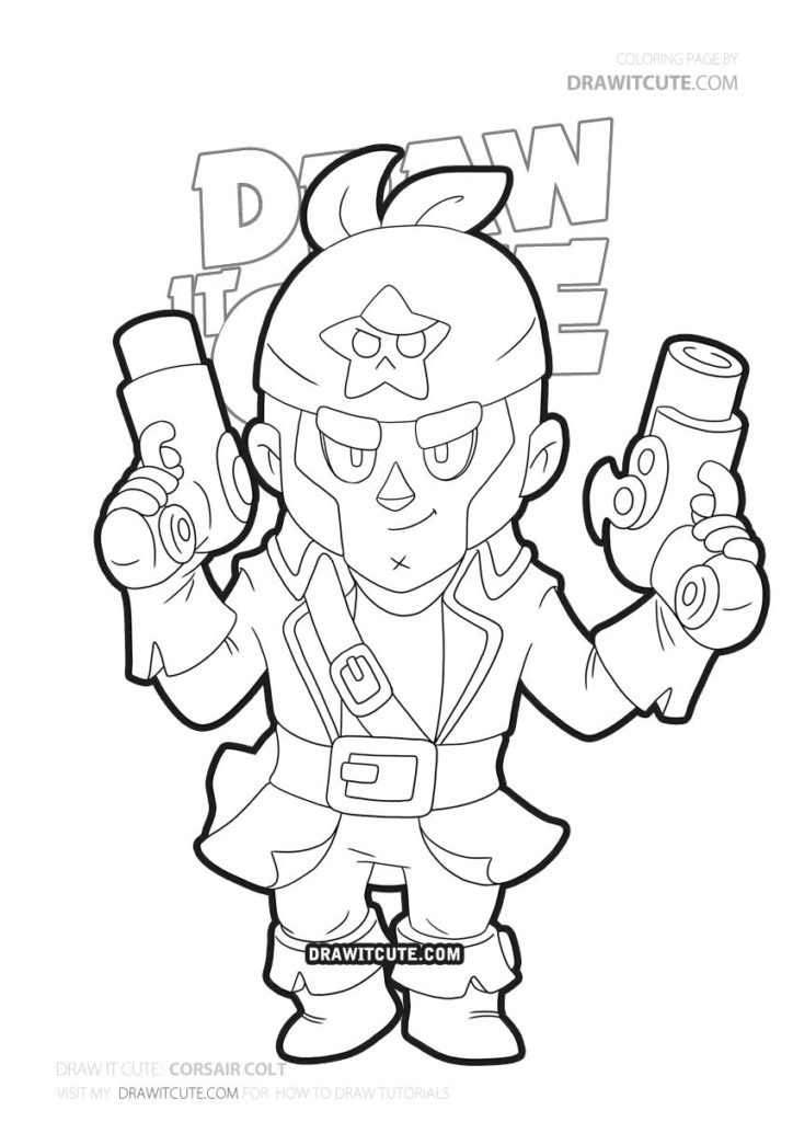 Pin na Brawl Stars Coloring Pages