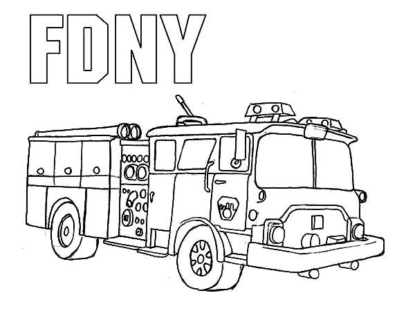 New York Fire Department Engine Coloring Pages