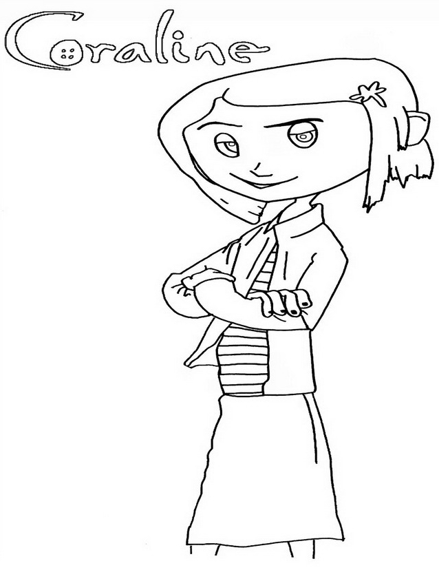 coraline coloring pages coloring home