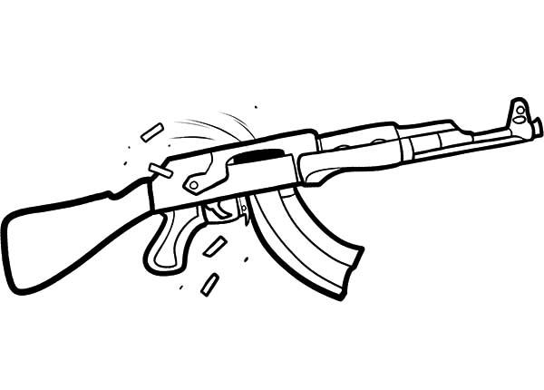 gun coloring pages eassumecom