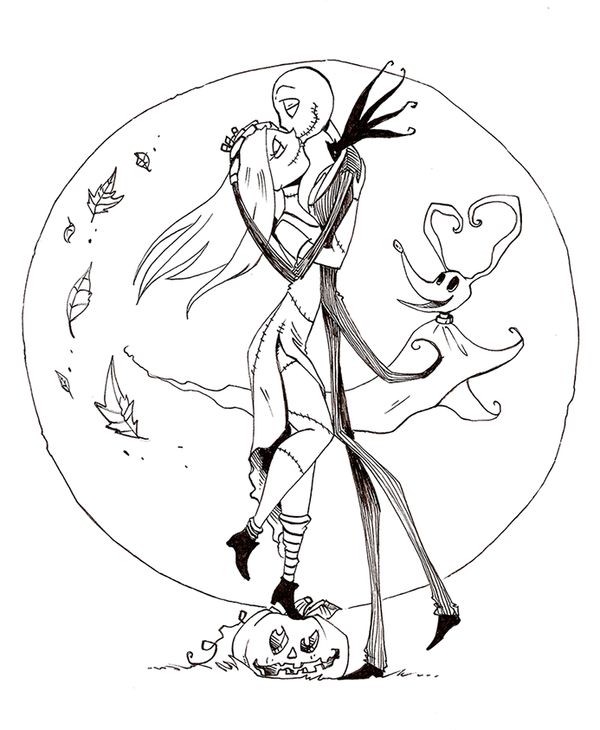 Free Printable Nightmare Before Christmas Coloring Pages Coloring Home