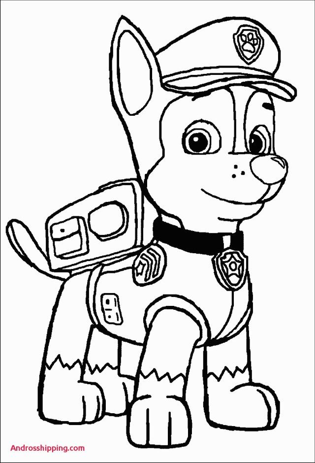 25+ Excellent Picture of Chase Paw Patrol Coloring Page | Paw ...
