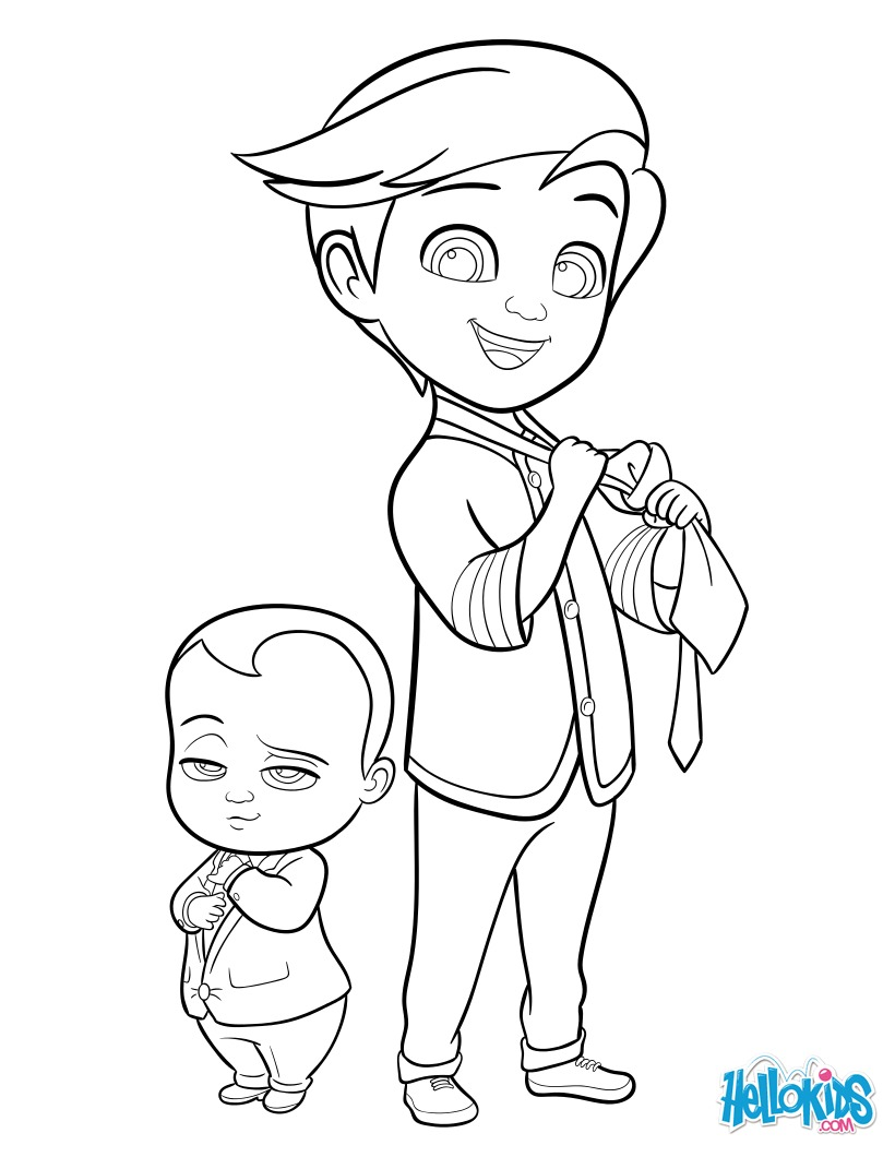 Boss baby and tim coloring pages - Hellokids.com