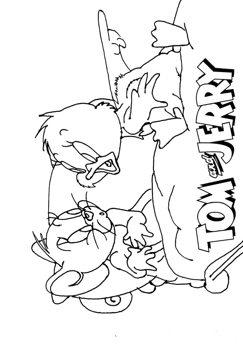 tom n jerry coloring pages - photo#32
