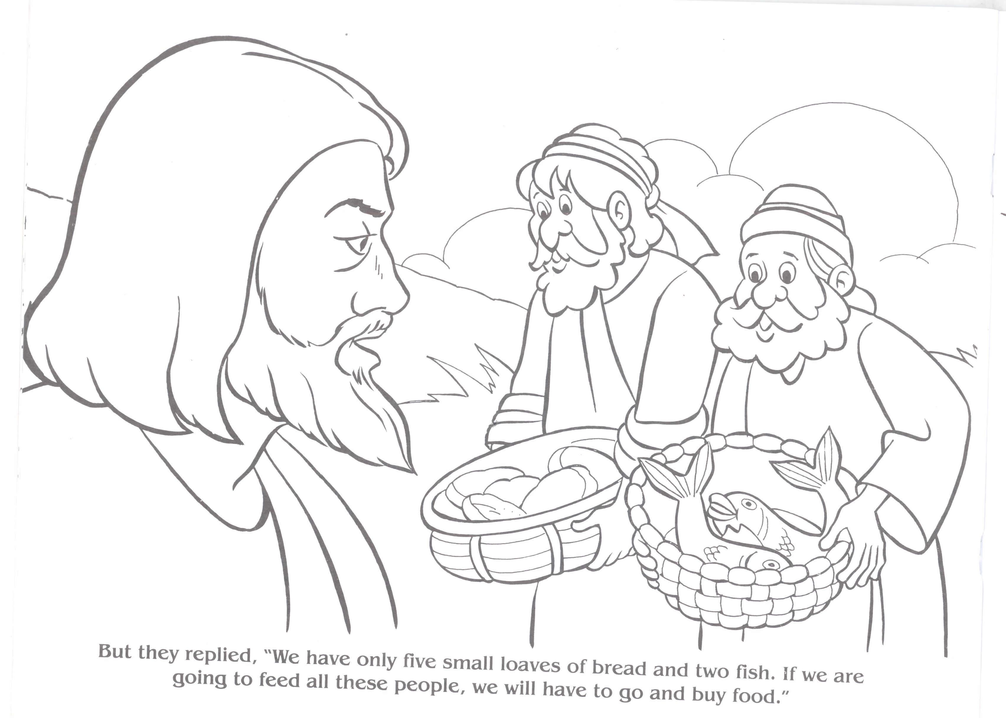 Coloring Pages For Jesus Feeding The 5000 : Coloring pages jesus feeds the home