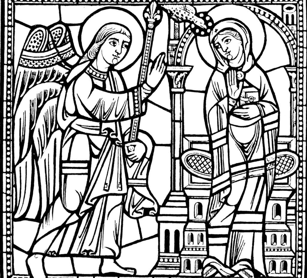 Stained Glass Coloring Pages Free