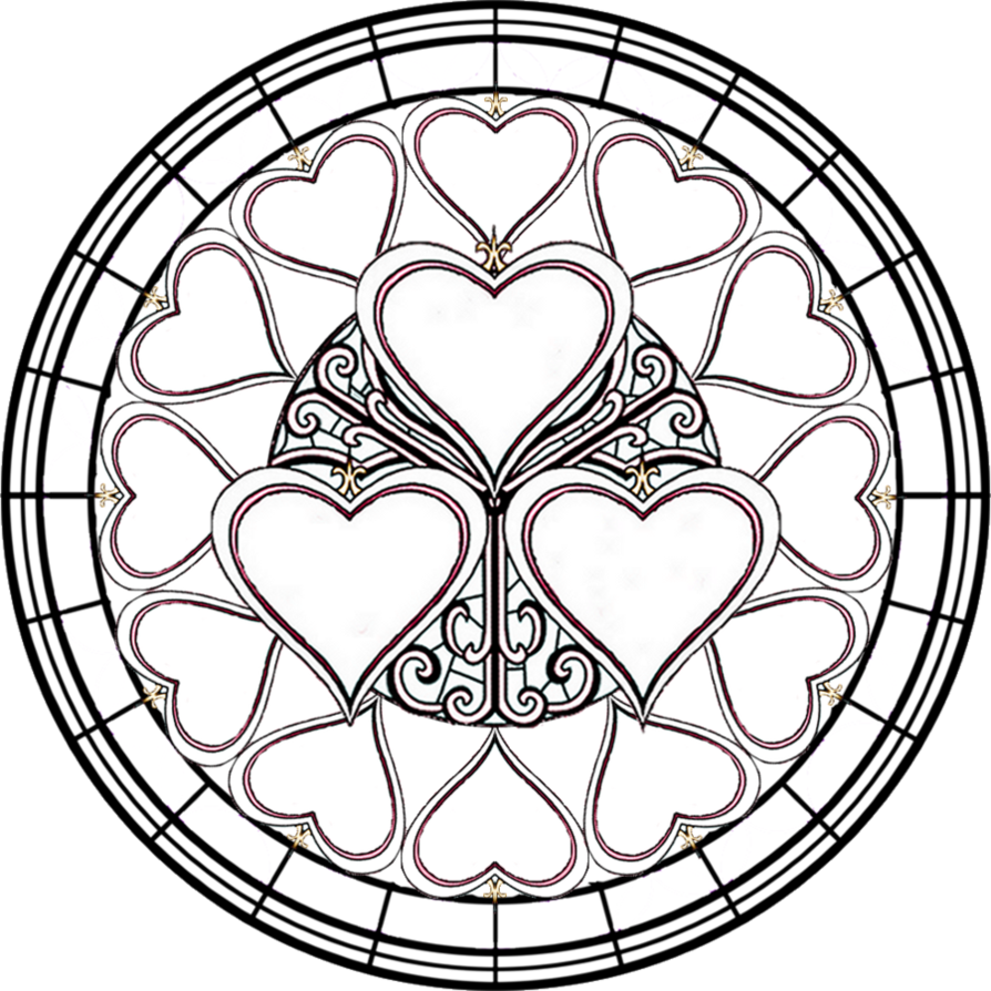 Free Printable Stained Glass Window Coloring Pages