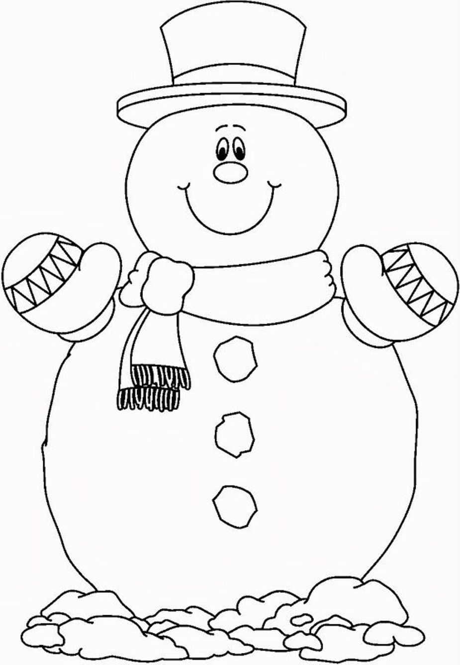 Christmas snowman coloring pages coloring home for Free coloring pages snowman